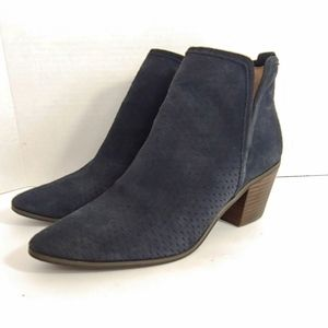 "Lucky Brand ""Loria"" perforated blue ankle boots"